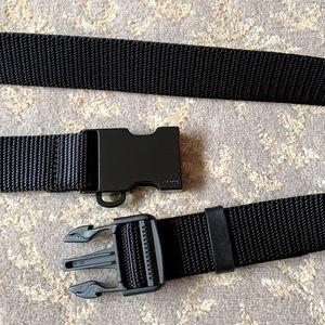Prada Unisex Black Nylon Web Belt